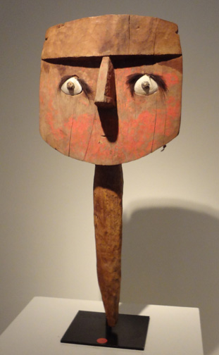 Chancay wood face post