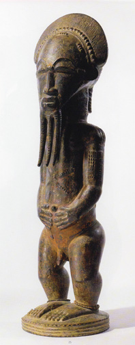 Baule male statue from the Ivory Coast
