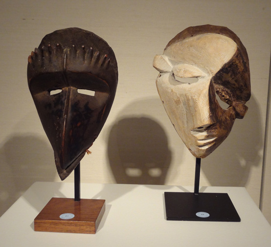Beaked Dan mask and Pende mask
