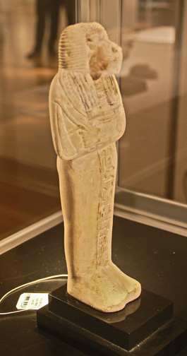 Egyptian limestone baboon-headed shabti
