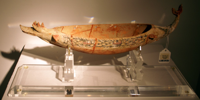 Greek terracotta votive ship