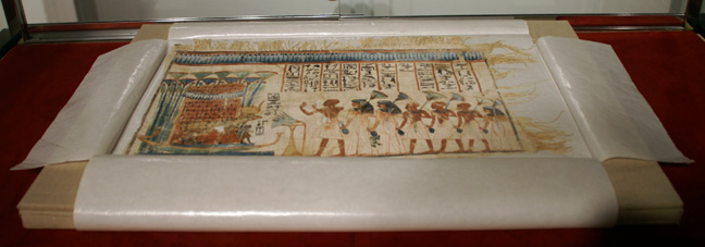 Egyptian painted votive linen
