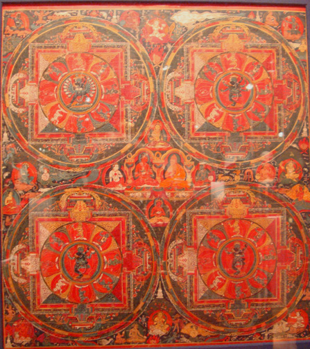 Thangka of Four Mandala of Hevajra