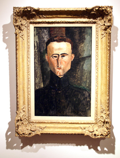 Head of a man by Modigliani