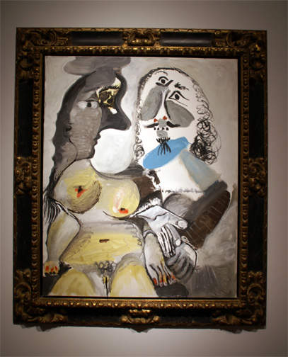 """Mousquetaire et nu assis"" by Picasso"