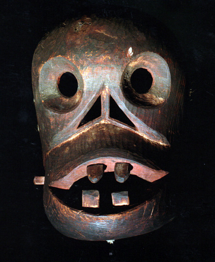 Mask with teeth