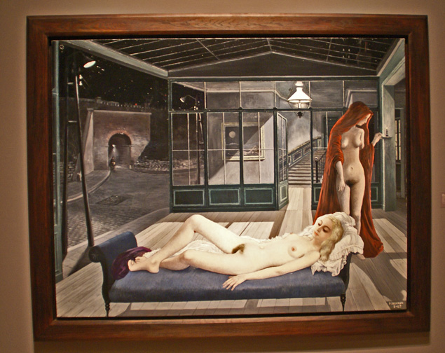 Surreal interior by Delvaux