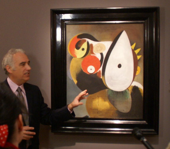 David Norman discussing Miró painting