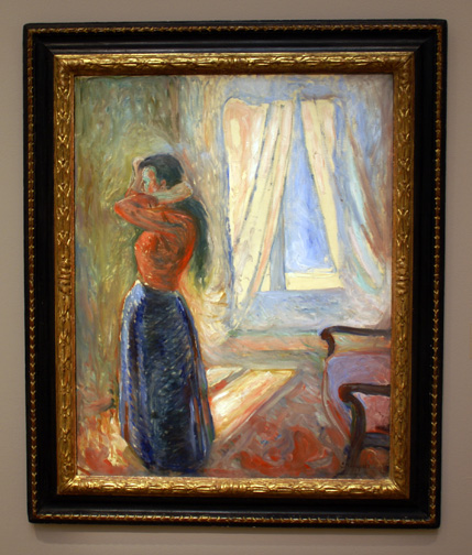 Woman by a window by Munch