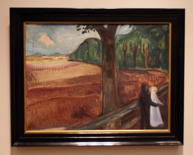 Couple in a landscape by Munch