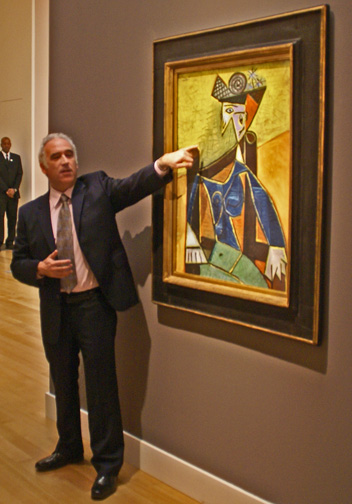 David Norman discussing large Picasso