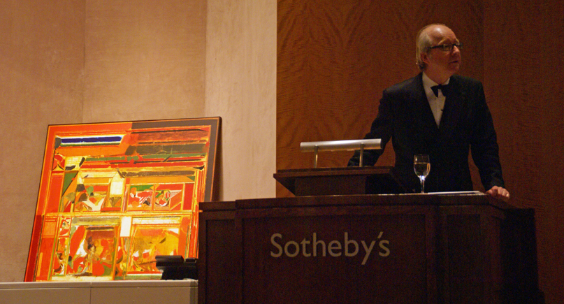 "Lord Politmore takes bids for Raza's ""Rajasthan I"""