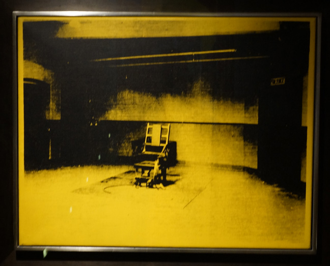 Warhol electric chair yellow