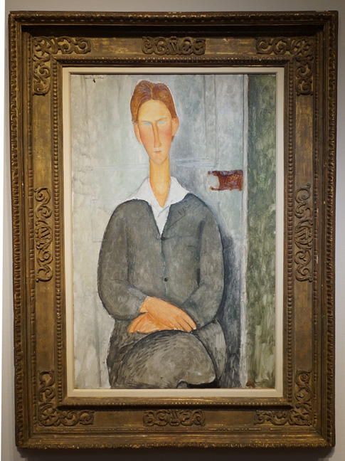 Seated man by Modigliani