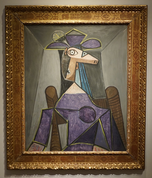 Woman with chin by Picasso