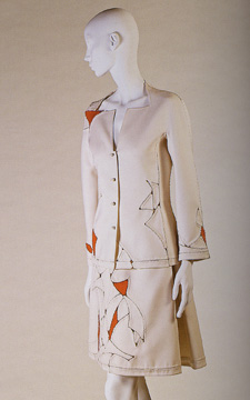 Ivory suspension suit by Ralph Rucci