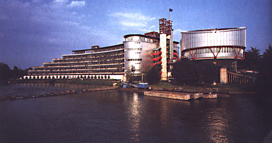 Court of Human Rights in Strasbourg, France, designed by Richard Rogers