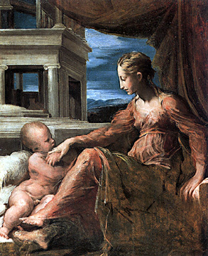 Virgin and Child by Parmigianino