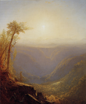 """A Gorge in the Mountains (Kauterskill Clove)"" by Sanford R. Gifford"
