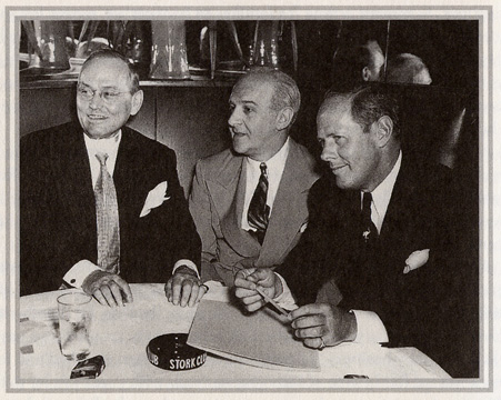 Damon Runyon, Walter Winchell and Sherman Billingsley