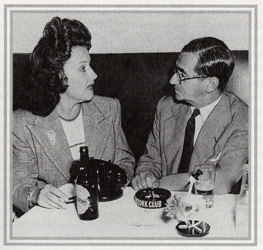 Ethel Merman and Irving Berlin at the Stork Club