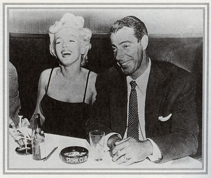 Marilyn Monroe and Joe Dimaggio at the Stork Club