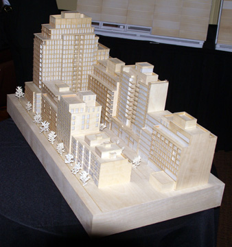 Model of the residential complex looking west