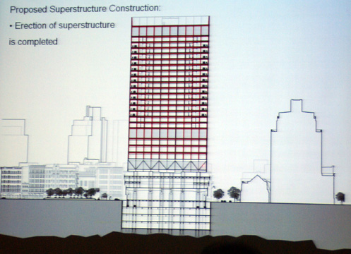 Schematic of 405-foot-high tower that could be built over O'Toole
