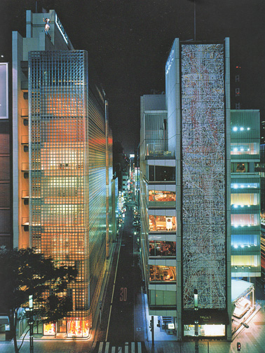 Hermes and Sony stores in Tokyo
