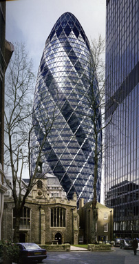30 St. Mary Axe, London by Norman Foster