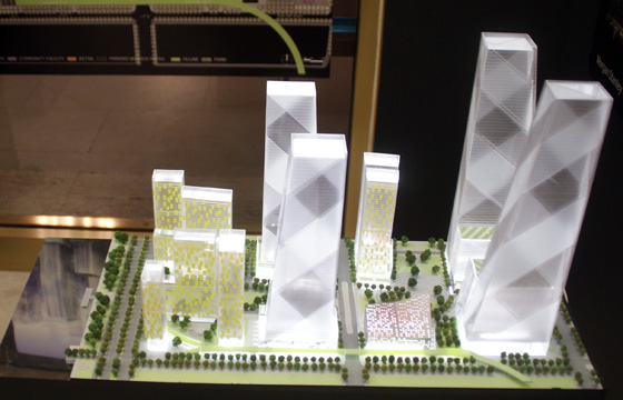 Model of Tishman Speyer plan
