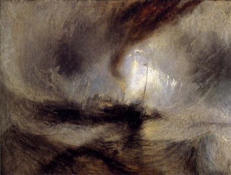 """Snow Storm - Steam Boat off a Harbour's Mouth Making Signals in Shallow Water..."""