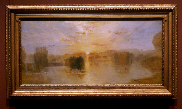 """The Lake: Petworth, Sunset; Sample Study"""
