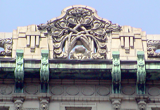 The Cornwall roofline on Broadway
