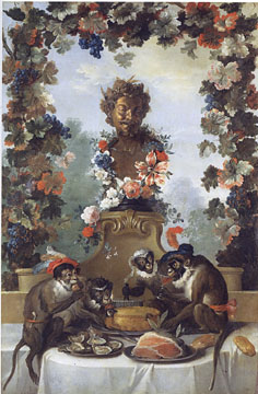 The Feast of the Monkeys by Jean-Baptiste Oudry
