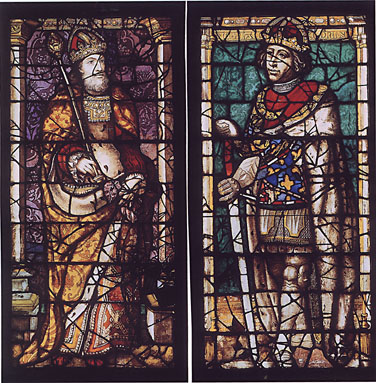 Regal men stained glass panels