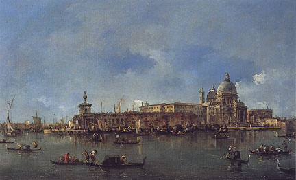 Venetian scene by Francesco Guardi