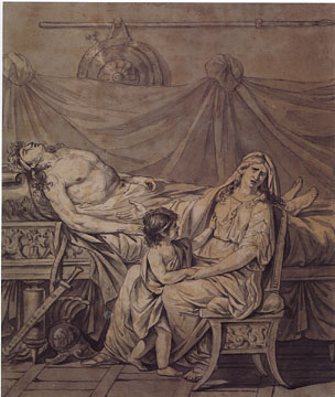 Andromache Mourning the Death of Hector by Jacques-Louis David