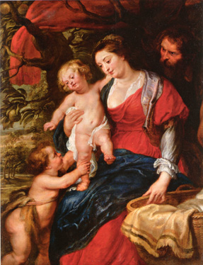 """The Holy Family with the Infant Saint John The Baptist"" by Rubens"