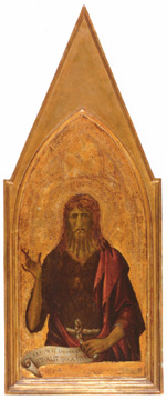"""Saint John the Baptist"" by Lippo Memmi"
