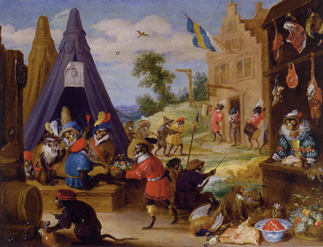 """A Festival of Monkeys"" by David Teniers the Younger"