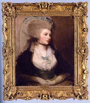 """Portrait of Mrs. Pringle, n�e Miss Balneavis,"" by Romney"