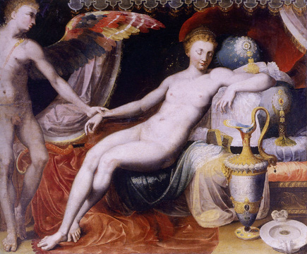 """Venus and Cupid"" by circle of Francesco Primaticcio"