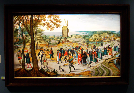 """Peasant Wedding Procession"" by Pieter Brueghel the Younger"