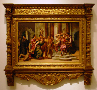"""The Calumny of Apelles"" by follower of Salviati"
