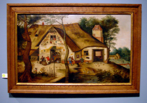 """L'Auberge St. Michel"" by Pieter Brueghel the Younger"""
