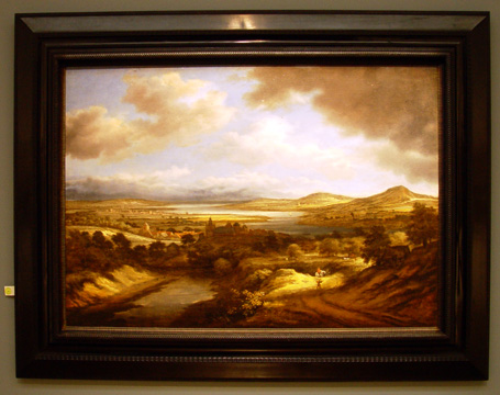 """A Panoramic River Landscape"" by Koninck"