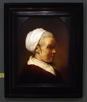 """Study of an Elderly Woman in a White Cap"" by Rembrandt"