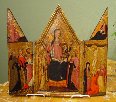 """Madonna and Child Enthroned"" by the Master of the Lazzaroni Madonna"