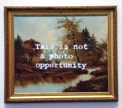 """Ruined landscape"" by Banksy"